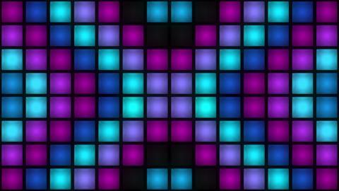 VJ Colorful Box Lights Flashing Lights Bulb Wall of... Stock Video Footage