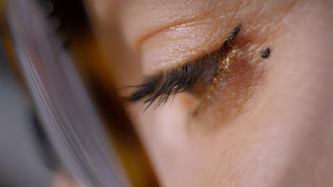 Jewelry maker eyes macro Footage