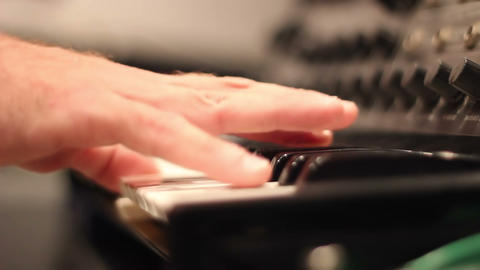 Piano hands playing chaoticly Footage