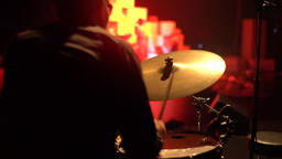 The drummer plays drums (close-up) Footage