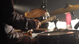 Close-up of a drummer's hands while playing drums Footage