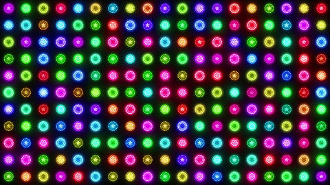 Christmas Colorful Lights Vj Loop Lights Panel Background Animation