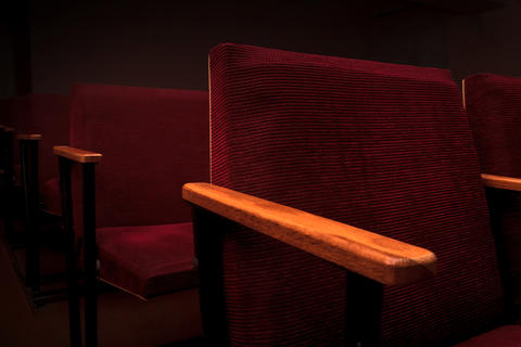 Armchairs in the cinema hall Photo