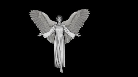 angel in a pose of prayer,alpha channel Animación