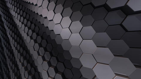 Geometric Hexagon Block Wall B 3 H CpMd CG動画素材