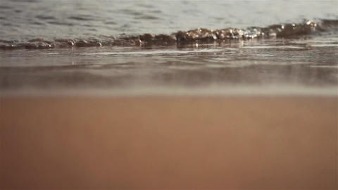 Surf of the sea wave on the beach.Turkey Stock Video Footage
