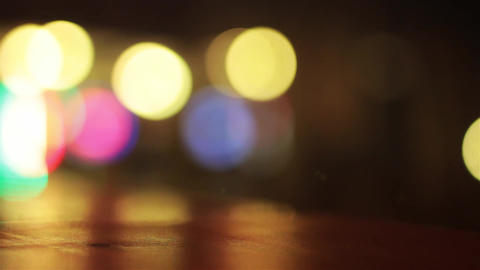 Evening lights blurred background Stock Video Footage