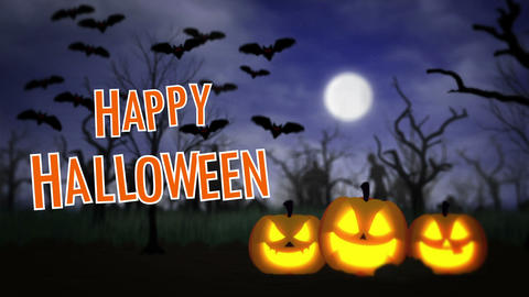 Happy Halloween BG Animation