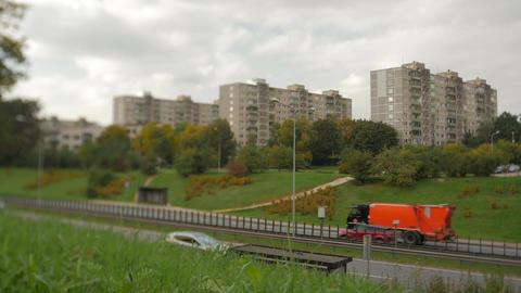 Concrete Block of FlatsTypical socialist model building construction type Image