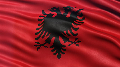 4K Albania flag seamless loop Ultra-HD Animation