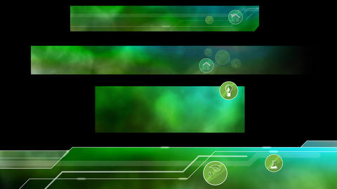 Ecological Lower Thirds. Green Animation