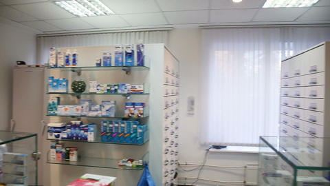 Drugstore,cosmetics and healthcare interior Live Action