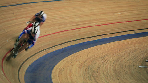 Bicycle Race competition blurred motion Footage
