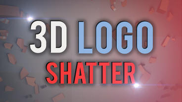3D Logo Reveal Shatter and Glitch After Effects Project