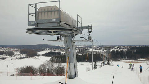 mechanism of the ski lift Footage