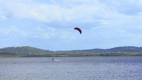 Kitesurfing in a river ビデオ