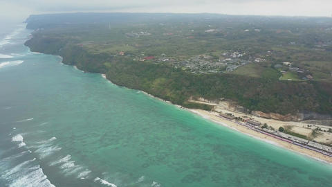 Aerial view on the beach and coast Footage