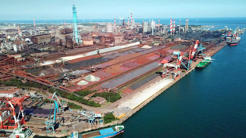 Ironworks from above Footage