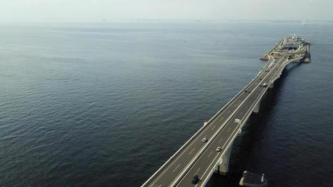 Track stop of overseas highway Umihotal Footage