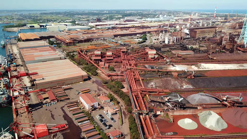 Aerial shot of ironworks Live Action
