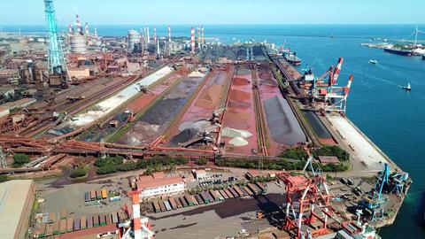 Aerial steel factory ライブ動画