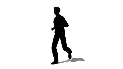 走る男性のシルエット Stock Video Footage