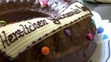 german bakery dolly around birthday cake close 10742 Footage