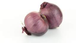 Red onion rotating Footage