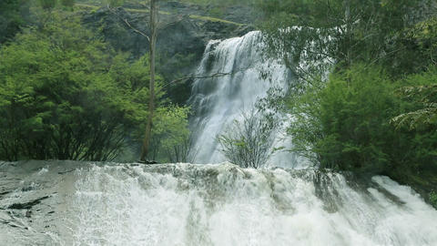 waterfall at Maroondah Dam, Australia Stock Video Footage