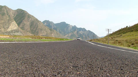 Road in mountains Stock Video Footage