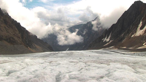 Mountain and clouds Stock Video Footage