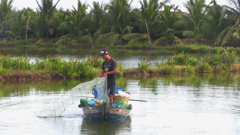 vietnam fisher Stock Video Footage