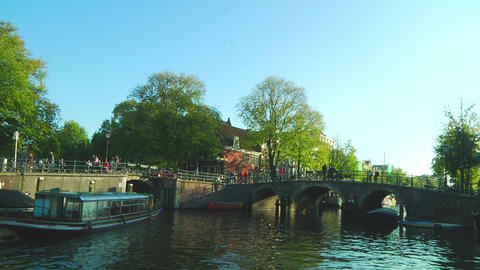 Amsterdam canals Stock Video Footage