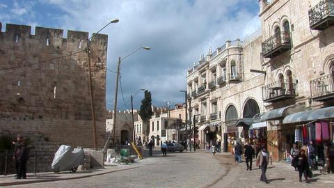 Tower of David in Jerusalem Stock Video Footage