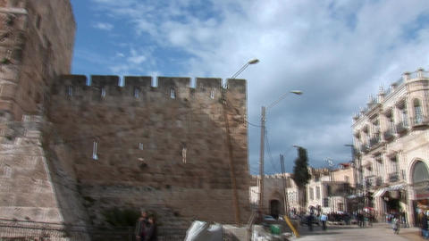 Tower of David in Jerusalem Stock Video Footage