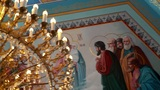 The painted ceiling in the Orthodox Church Footage