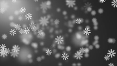 Snow on black background Stock Video Footage
