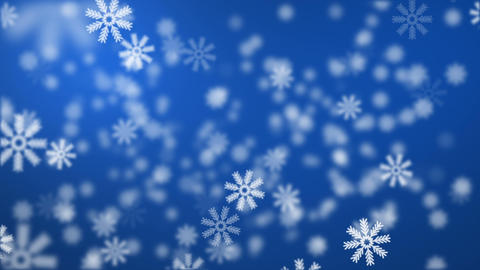 Snow on blue background Stock Video Footage