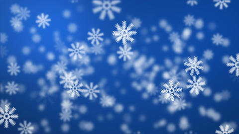 Snow on blue background Animation