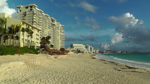 Cancun Beach Mexico 3 Stock Video Footage