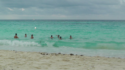 Cancun Beach Mexico 5 Stock Video Footage