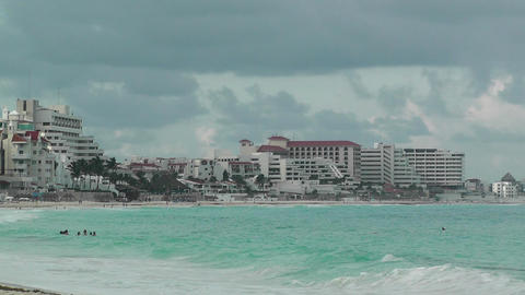 Cancun Beach Mexico 7 Stock Video Footage