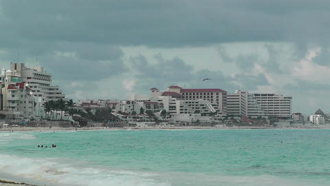 Cancun Beach Mexico 7 Footage