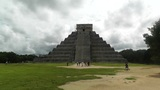 Chichen Itza Mexico Yucatan Kukulcan Pyramid handheld 02 Footage
