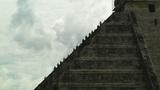 Chichen Itza Mexico Yucatan 10 Kukulcan Pyramid Handheld stock footage