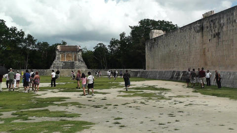 Chichen Itza Mexico Yucatan handheld 14 Stock Video Footage