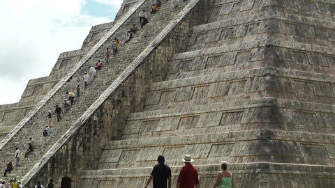 Chichen Itza Mexico Yucatan Kukulcan Pyramid 20 Stock Video Footage