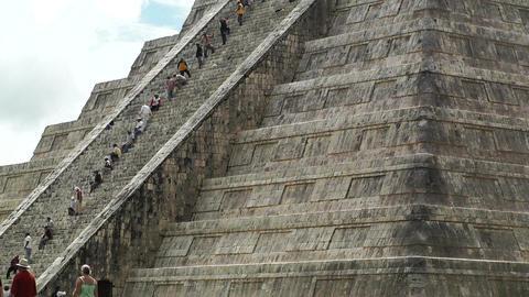 Chichen Itza Mexico Yucatan Kukulcan Pyramid 20 Footage