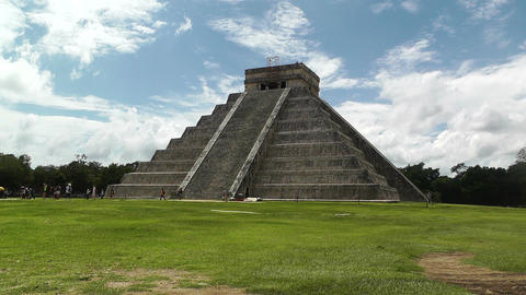 Chichen Itza Mexico Yucatan Kukulcan Pyramid 22 Stock Video Footage