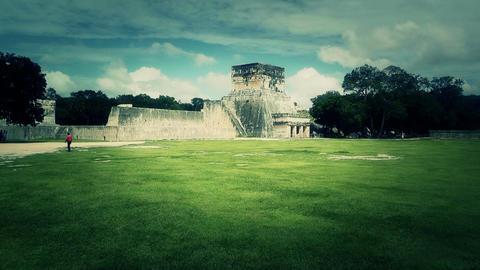 Chichen Itza Mexico Yucatan 30 handheld stylized Stock Video Footage